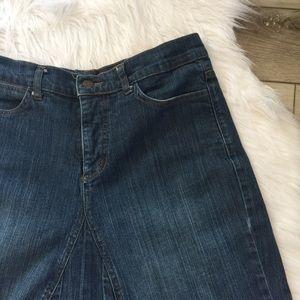 🌿 NYDJ 🌿 Jean Skirt